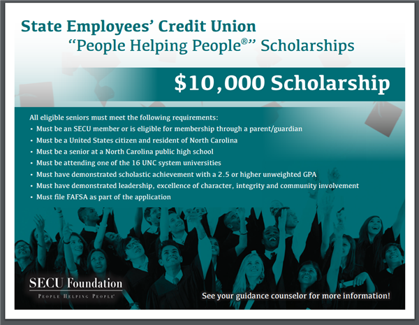 SECU People Helping People Scholarship