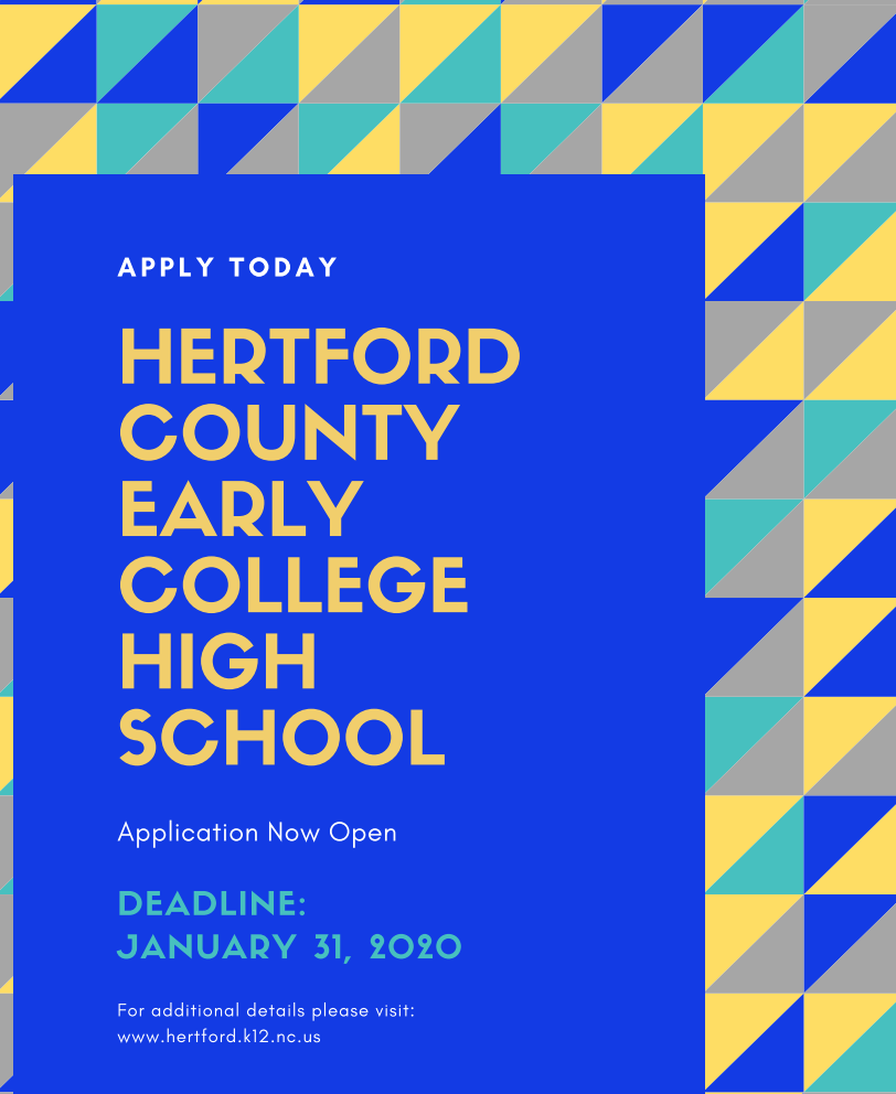 Hertford County Early College High School Application Now Open