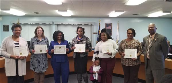 Top 25% in LEA~April Blackwell-RES, Gretchen Zoch-BPS, Mary Manley-AES, Sandra Tyner-AES, LaDonya Gatling-AES, and Tanya Staton-HCMS
