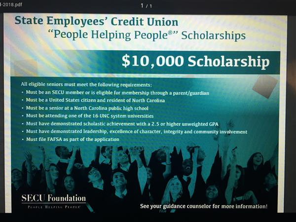 SECU People Helping People Scholarship Opprtunity