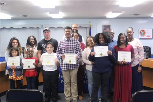 October 2019 Character Trait Students with Parents