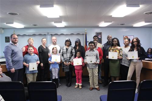 December 2019 Character Education Students with Parents