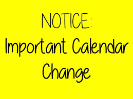 Modified Calendar Changes as of February 26, 2018
